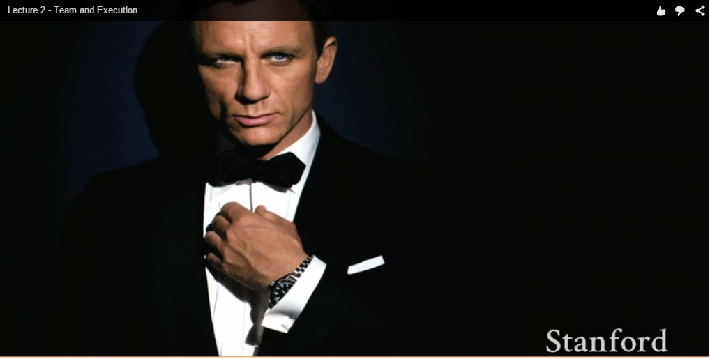 James Bond as Startup Founder